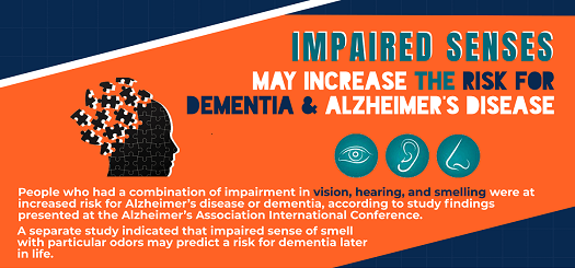 Impaired Senses May Increase the Risk for Dementia & Alzheimer's Disease [Infographic]